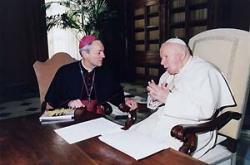 Erzbischof Prof. Dr. Ludwig Schick bewunderte die Willensst�rke und die Konsequenz, mit der der verstorbene Papst seinen Weg ging und sein Leiden annahm.