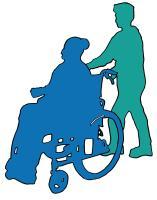 Pflege Mann mit Rollstuhl