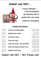 Flyer Fastenzeit 2013