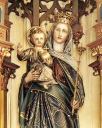 Hochaltar Marienfigur