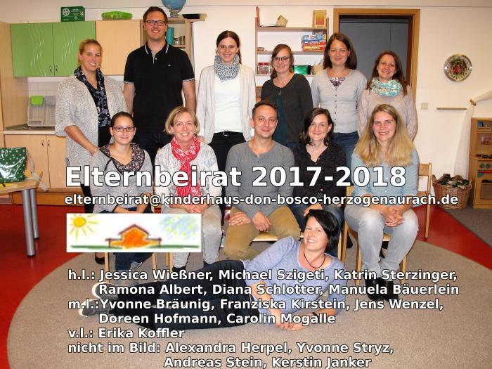 Elternbeirat 2017-2018 Don Bosco Kinderhaus