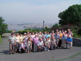 Auf dem Gellertberg in Budapest