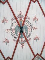 Darstellung des Hl. Geistes als Taube (Decke des vorderen Kirchenschiffes in Poxdorf)