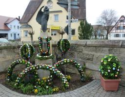 Der Poxdorfer Osterbrunnen 2012