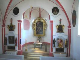Das Innere der Heilig Grab Kapelle in Neunkirchen