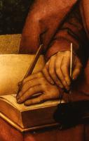 3. S. I. Jahreskr. (C) um es für dich aufzuschreiben ....... Gemälde, H. Memling (1433-1494)