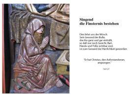 Singender Mönch angesichts des Todes