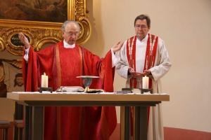 Pfarrer i.R. Veit Dennert und Josef Pingold