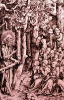'Meister, was sollen wir tun?' Holzschnitt, Cranach (1472-1553)