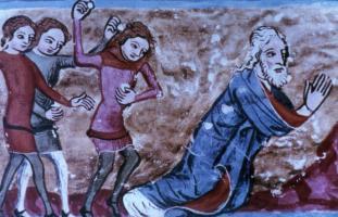Das Schicksal des Propheten   Buchmalerei 14. Jht.