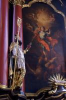 Der heilige Augustinus mit entflammtem Herzen, Neunkirchen St. Michael Hochaltar 1741