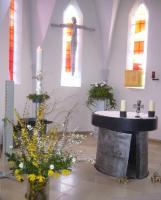 Altarraum der Kirche »Maria Schutzfrau Bayerns« nach der Renovierung