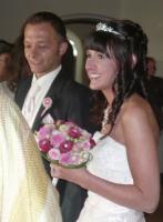 Das Paar nach der Trauung