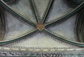 Christushaupt mit Dreifaltigkeitsnimbus 14. Jht. im ehem. Kapitelsaal des Augustinerchorherrnstifts Neunkirchen - heute Augustinuskapelle®