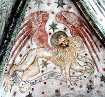 Löwe - Symbol für das Markus Evangelium - 1428 Augustinuskapelle Neunkirchen am Brand