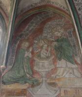 Fresko - Taufe des hl. Augustinus durch den hl.Bischof Ambrosius 387 in Mailand