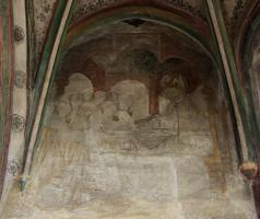 Augustinus als Lehrender - Chorherren empfangen von ihm die Regel für ihre Gemeinschaft