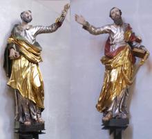 Petrus und Paulus um 1741   Goerg Reuß zugeschrieben   Im Chor der Stiftskirche St. Michael Neunkirchen a.Br.
