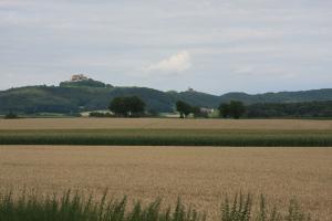 Giechburg und Gügel vom Westen gesehen