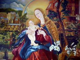 Kopie des Grünewald Bildes aus dem Maria Schnee Altar