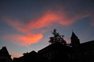 Abendrot über ST. Michael an Pfingsten 2009