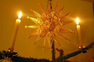 Stern auf der Spitze meines Christbaums
