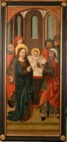 Retabel des gotischen Marienaltars von 1480 in St. Michael Neunkirchen aufbewahrt in der Schatzkammer