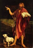 Grünewald, Isenheimer Altar Johannes zeigt auf das Lamm Gottes - Jesus am Kreuz