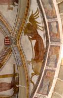 Die Engel laden den Eintretenden zur Anbetung ein.um 1410 in St. Michael Neunkirchen a.Br.