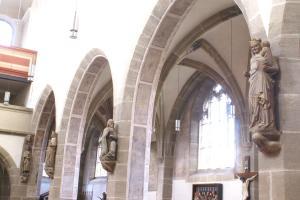 Maria mit Jesus und die Weisen aus dem Morgenland in St. Michael Neunkirchen um 1360