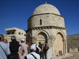 Himmelfahrtsmoschee in Jerusalem auf dem Ölberg