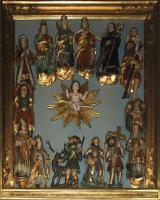 Jesus inmitten der 14 Märtyrer und Nothelfer