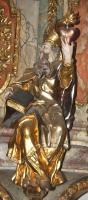 Der Kirchenvater Augustinus mit brennendem Herzen   Die bleibt ewig und die Liebenden mit ihr.