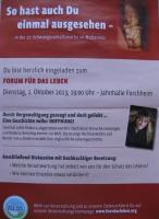 Plakt zur Verantaltung am 1 Okt. 2013 in Forchheim
