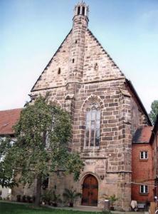 'Kirche des Klostern zum Heiligen Grab in Bamberg vom Hof aus'