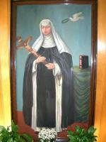 Die mystische Vermählung Columbas im Gebet (Künstler unbekannt)