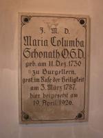 Gedenktafel über dem Grab in der Heiliggrab-Kirche