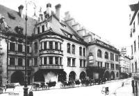 München 1902 - Blick auf das Hofbräuhaus