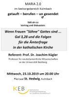 Vorankündigung Vortrag Prof.Dr. Kügler