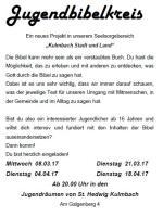 Jugendbibelkreis 2017