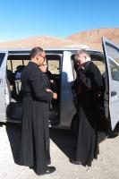 22.8.2017 Reinhold zieht das erste Mal seinen Bischofstalar an