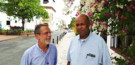 Kurt Faulhaber und José Luis Hernandez in der Altstadt von Santo Domingo