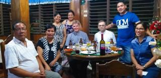Abendessen bei der Familie von Rodrigo (Boboy) Milo in S. Augustin