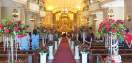 Kathedrale in Cebu - im Hochzeitsschmuck