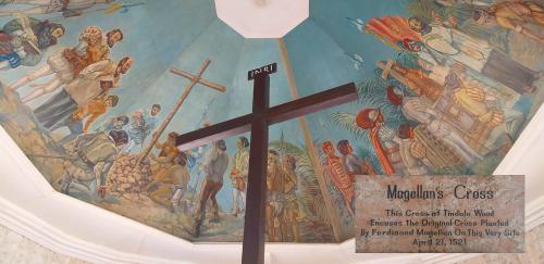 Stelle, auf der Magellan das erste Kreuz aufgestellt hat
