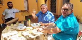 Rodrigo, Sergio und Marcelo am Mittagstisch