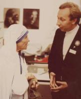 Im Gespräch mit Mutter Teresa beim Katholikentag 1978 in Freiburg