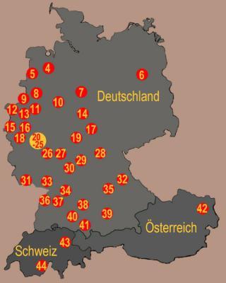Schönstatt-Zentren Karte