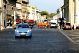 Fackellauf 2009 - freien Lauf durch die Straßen Roms