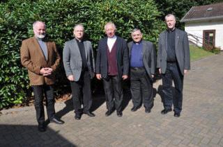 v.l.: Martin D�rflinger, Martin Emge, Peter Wolf, Daniel Lozano, Stefan Keller (September 2014)